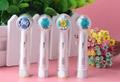 Acction B 4 pcs Substituição Cabeças de Escova de Dente fio dental para EB25 Floss ação escova de Dentes Elétrica Cerdas Macias Higiene Bucal