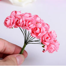 144PCS one lot Multicolor Artificial Paper Flowers Rose Used For Decorative Gift(China (Mainland))