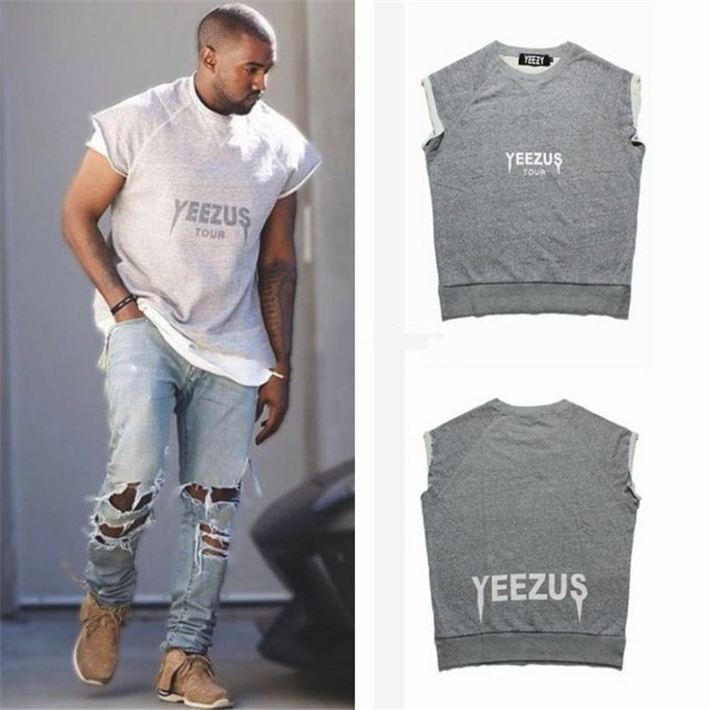 Kanye West Yeezus Tour Short Sleeve Crossfit Oversize T-shirt Homme 2016 Summer New Heavy Metal Swag Hip hop Camisetas Hombre XL(China (Mainland))