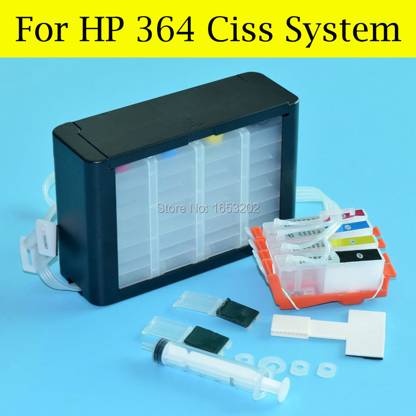 For HP 364 4 Color Ciss System 5