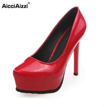 Buy Lady Club High Heel Shoe Women Platform Thin Heels Pumps Pointed Toe Office Sexy Party Wedding Shoe Vacation Footwear Size 35-39 for $19.76 in AliExpress store