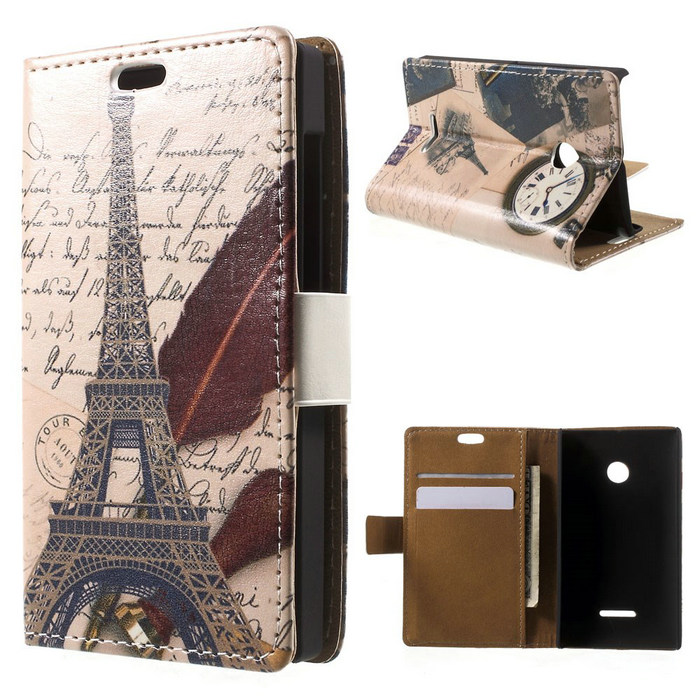 2015 New Accessory For Microsoft Lumia 435 Building Leather Card Holder Shell Cover Case for Microsoft Lumia 435 / Dual Sim(China (Mainland))