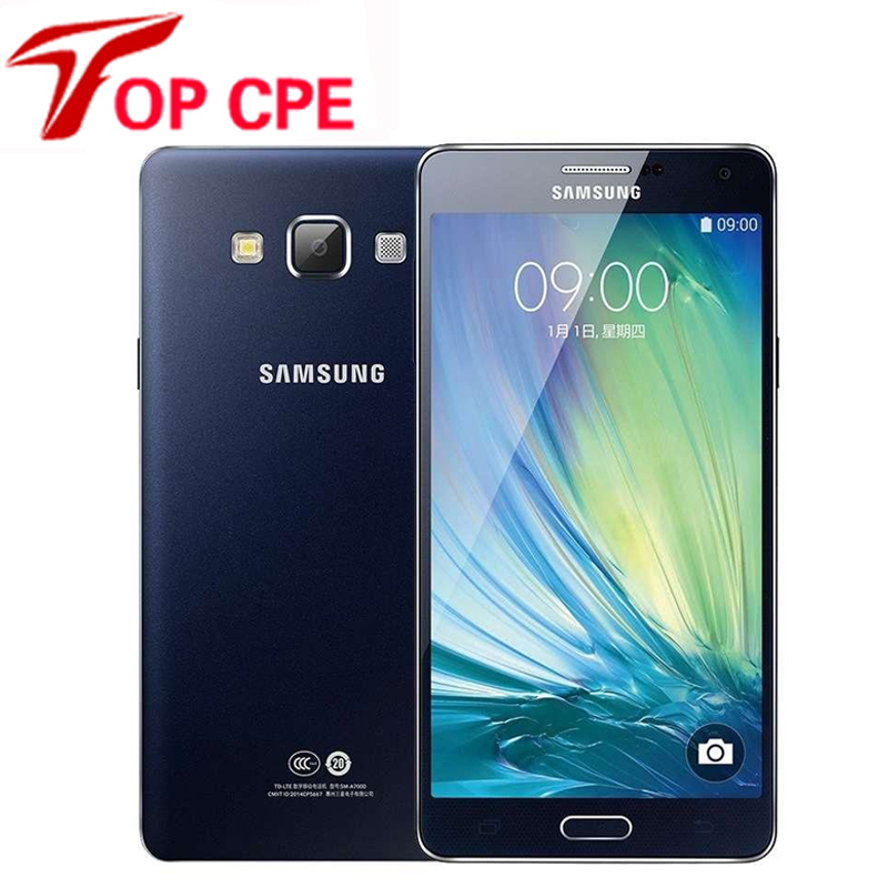 Original Samsung Galaxy A7 A7000 cell phones Octa Core 2G RAM 16G ROM 13MP Camera 5.5'' dual sim card LTE WCDMA Free Shipping(China (Mainland))