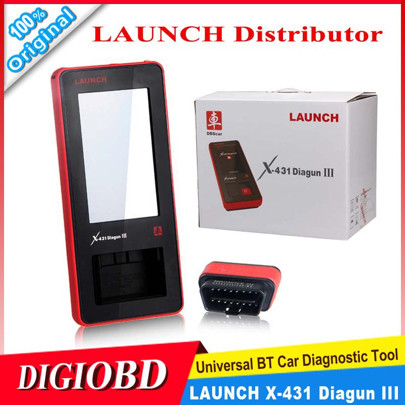 [Authorized Distributor] 2015 New Arrival Auto Diagnostic Scanner Launch X431 Diagun III 100% Original Update via internet X-431(China (Mainland))