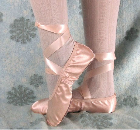 Ballet Slippers with Ribbons