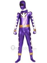 Purple And White Shiny Metallic Super Hero Zentai Suit (zt351)(China (Mainland))