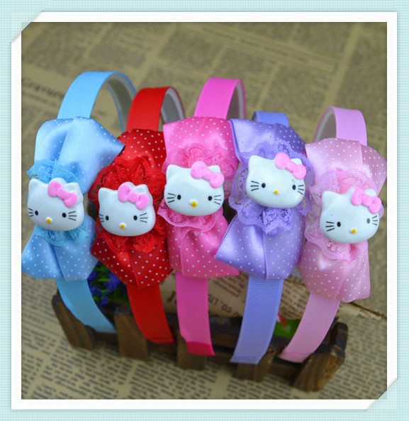 Fashion Cute  Princess headwear hair accessories kitty cat hairbands mix color children kids girl baby gift free shipping H49