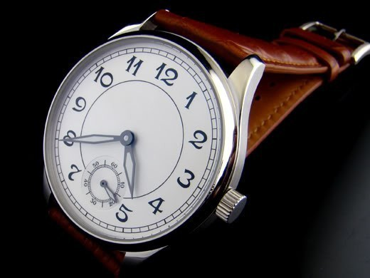 Parnis 44MM seagull 6498 HAND WINDING movement independent small mechanical white dial men watch - Station store