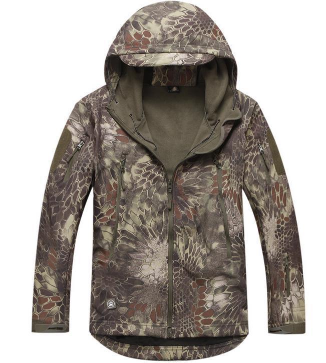 Winter Men Military Tactical Jackets Outdoor Waterproof Army Sports Camouflage Hunting Camping Hiking Thermal Fleece Lining Coat(China (Mainland))