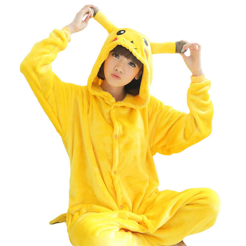 Winter Pijamas Animal Pajamas One Piece Costume Couples Onesie Unisex yellow Pikachu Primark  -  Suzhou Xiangwang Hetai Imp&exp Co.,Ltd store
