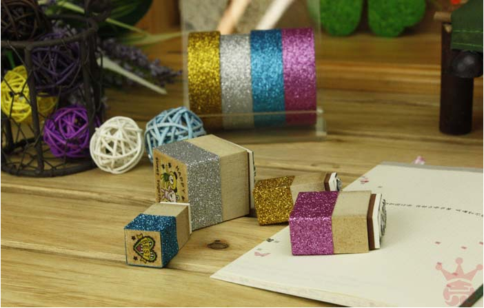 Freeshipping! New Colorful glitter fabric tape/good quality tinselled stick Adhesive Tape/wedding tape/wholesale<br><br>Aliexpress