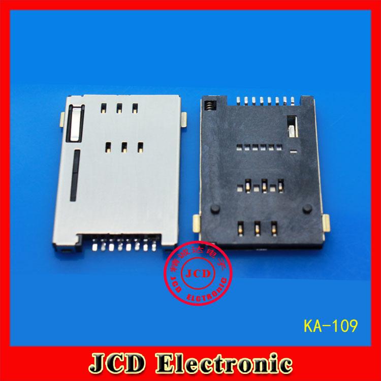 SIM card Self bomb PUSH 8P Tablet PC Mobile phone Card slot GPRS Card holder KA-109(China (Mainland))