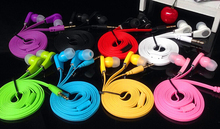 headset Flat Cable 3.5mm Earphone Earbud For Samsung iPhone 5 6 6s Stereo Bass MP3 MP4 B brand fone de ouvido headphone