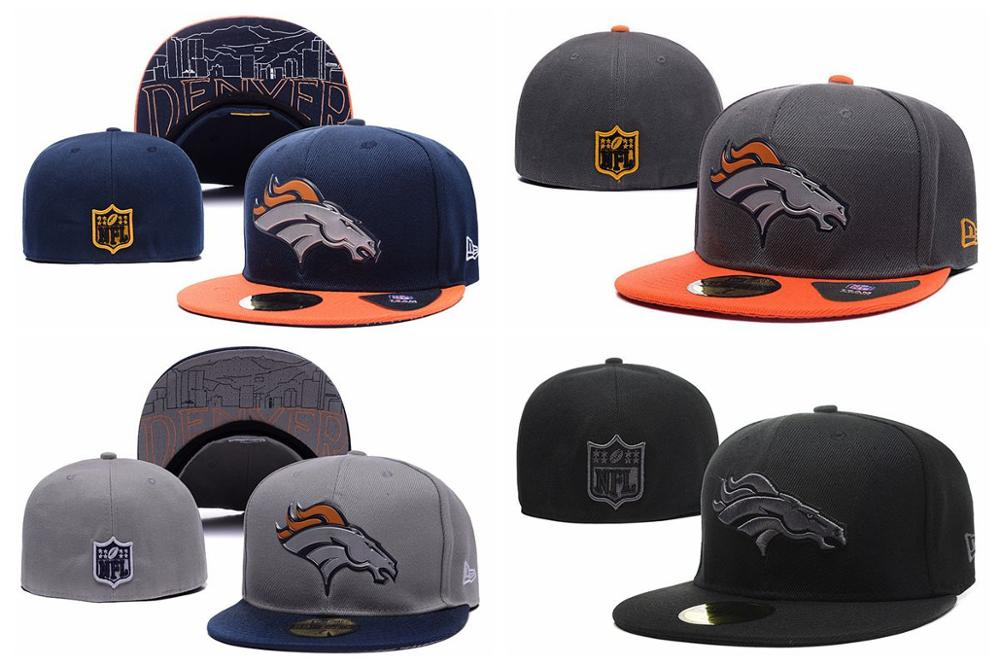 2016 100% stitched top quality Denver Bronco fitted hats,Denver Bronco size(China (Mainland))