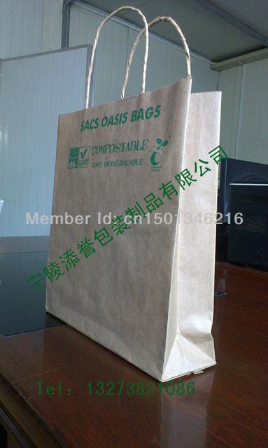 handle bags brown kraft paper with paper twisted handle
