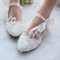 women flats shoes handmade wedding shoes pearl rhinestone beaded anklet lace up shoes white bridesmaid shoes