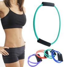 New arrival Rubber+high quality foam Yoga Exercise Resistance Band Stretch Fitness Tube Cable For Workout Muscle Tool  4 colors