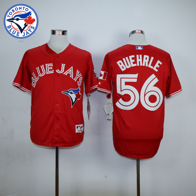 Best quality Toronto Blue Jays 56 Mark Buehrle Baseball Jerseys new Cool Base Red Jersey Embroidery Logo(China (Mainland))