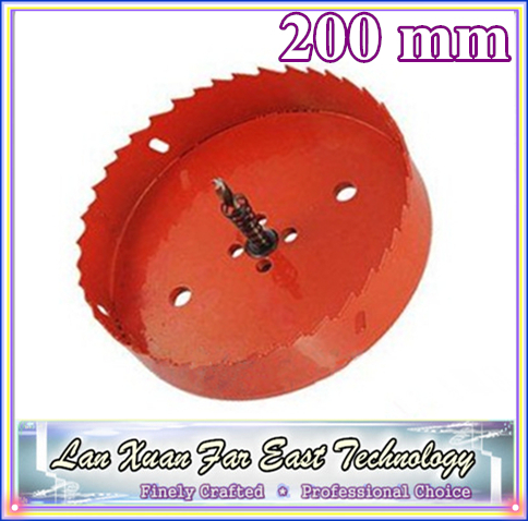 1PC Red Wood Aluminum Alloy Plastic Hole Saw Bit -200mm<br><br>Aliexpress
