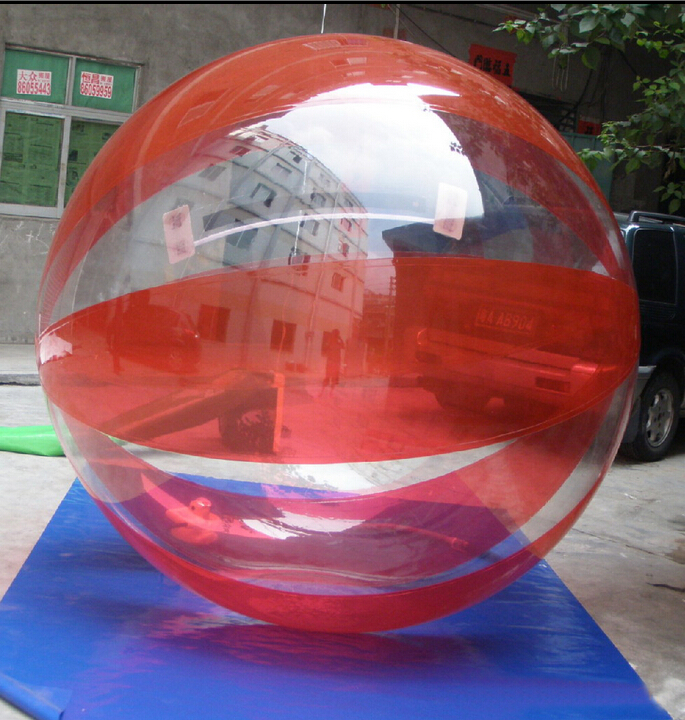 free shipping 1.5m red color TPU Alibaba Guangzhou supplier inflatable jumbo water ball,High quality inflatable water zorb ball(China (Mainland))