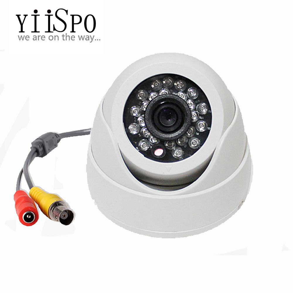 Plastic Mini IR Dome Camera 24pcs LED Board Video Security Camera Indoor CCTV 700TV COMS for Fixed Lens(China (Mainland))