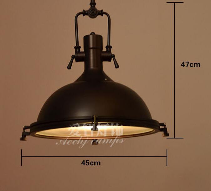 Lampade Vintage Industriali: Detailed picture about indoor vintage pendant la...