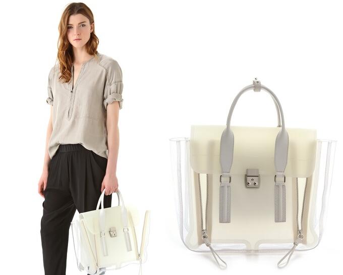 2014 fashion women handbag vintage messenger bags high capacity transparent PVC summer beach bag shopping - mushroom love store