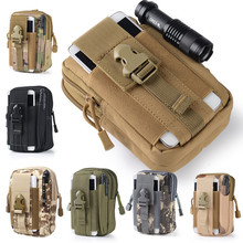 Universal Outdoor Tactical Holster Military Molle Hip Waist Belt Bag Wallet Pouch Purse Phone Cases for iPhone/LG/HTC/Zipper 510(China (Mainland))