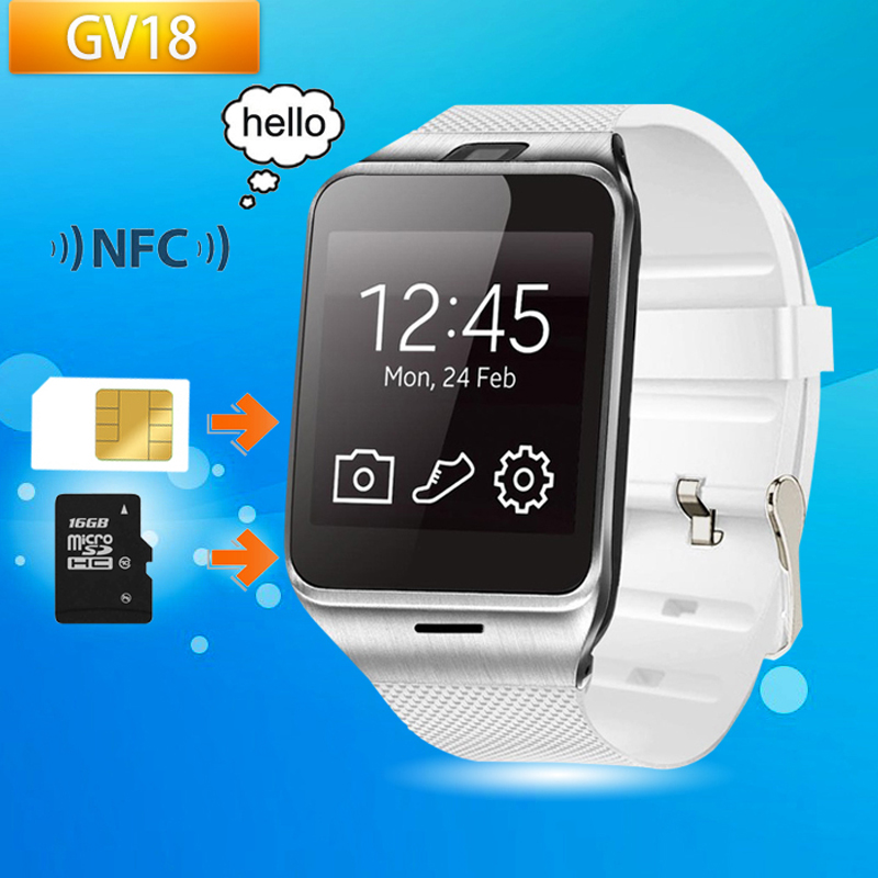 Original GV18 Bluetooth Smart Watch APLUS Smartwatch android Wrist watch with camera support NFC SIM for Android IOS Smart Phone(China (Mainland))