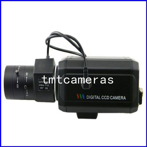 "HD 700TVL 1/3"" Sony CCD Effio-E DSP CCTV Security Video Box Color Camera OSD Menu D-WDR HLC 6-60mm Auto IRIS CS Lens(China (Mainland))"