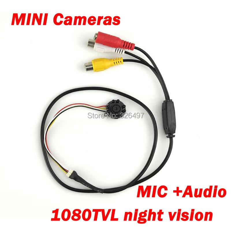 8 Infrared lights Mini CCTV Hidden HD Camera Audio video Night Vision cctv Security Micro Camera MIC 700TVL Camera Camcorders(China (Mainland))