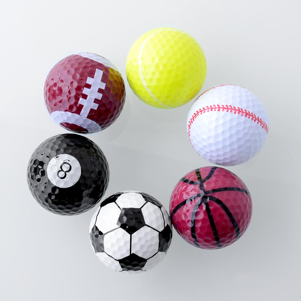 Set 6PCs Novelty Assorted Champion Sports Golf Double Balls Joke Fathers Day Best Present Rubber Free Shipping(China (Mainland))