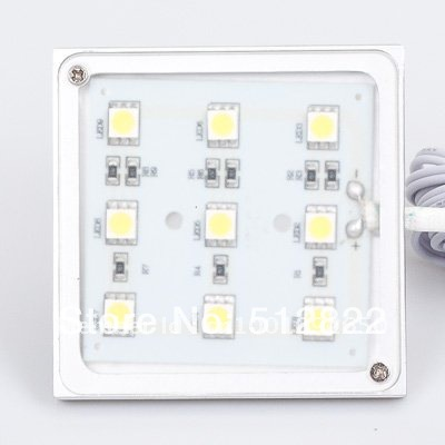 LED Square Light Slim Panel 1.8w 9leds Input Accent Showcase Furniture Decorative Display Light SMD5050 12VDC(China (Mainland))