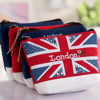 Fashion Hot Mini Wallet Childrens High Quality Canvas Women 2015 New Brand Inspired Designer Girls British Style Blue Coin Purse(China (Mainland))