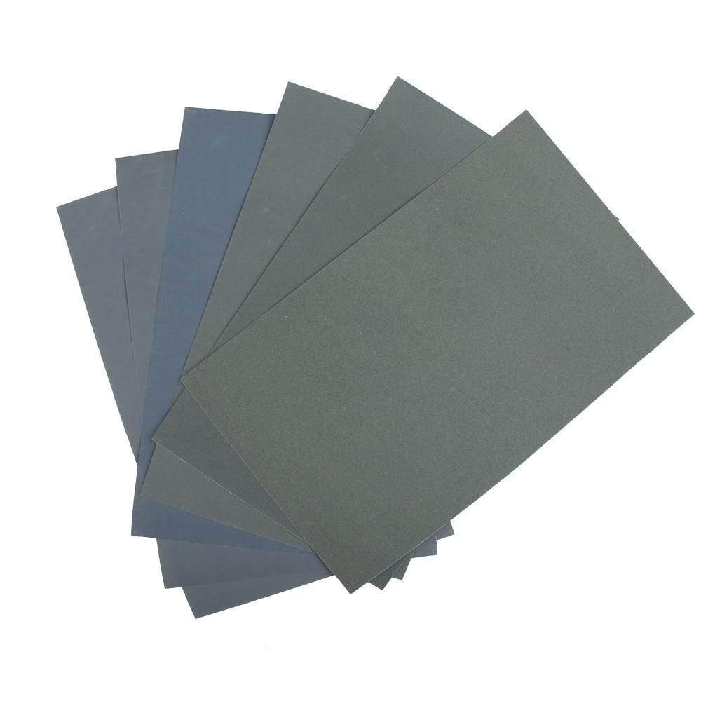 6Pcs Waterproof Abrasive Paper Sand Paper P600 1000 1200 1500 2000 2500 HB88