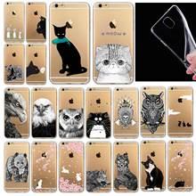 Телефон сумки чехол для iphone 6 6 S 4.7 » мягкие тонкий тпу прозрачные мягкие симпатичные животные кошка сова кролик картины окрашены стиль
