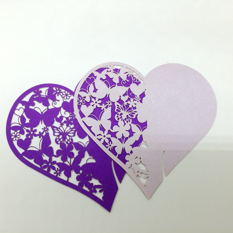 Wedding Gift Bags Card Factory : /bag Hollow Seat Card Name/Place/Cup Card Heart Paper Guest Seat Card ...