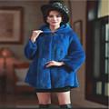 Fur Faux Fur Coats Windproof Warm Leather Grass 2016 New Fashion Female Models Faux Fur Hooded