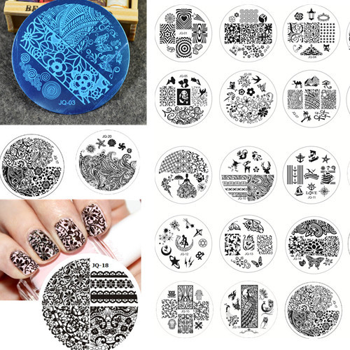 New 1 pcs Steel Plate Nail Art Lace Flower Image Stamp Stamping Plates Manicure Template DIY Nail Art Stamping Tools #NC060(China (Mainland))