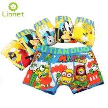 5 Pcs/lot Kids Boys Underwear Boy Underware Kawaii Cotton Children's Pants Soft Cartoon Baby Boxer Underpants Briefs 3-13 Year(China (Mainland))