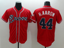 Mens 6 Bobby Cox 10 Chipper Jones 24 Deion Sanders 44 Hank Aaron Jerseys color white gray red blue green top quality(China (Mainland))