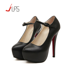 Ladies Sexy 14cm High Heels Women Platform Pumps New Fashion Red Bottom Wedding Party Shoes Plus Size 43 Zapatos Mujer(China (Mainland))