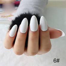 24 stks/set Acryl Volledige Cover Fake Nail Finger Tips Lange Valse Nagels Art Hot Nail Decoratie Nail Art Design Manicure gereedschap(China)