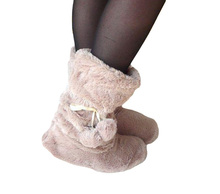 Floor Boots Home Slippper warm comfortable boots cute plush ball Flooring boots Free Shipping(China (Mainland))