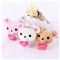 Cute mini plush bear dust plug universal mobile phone for iphone Samsung Xiaomi Huawei