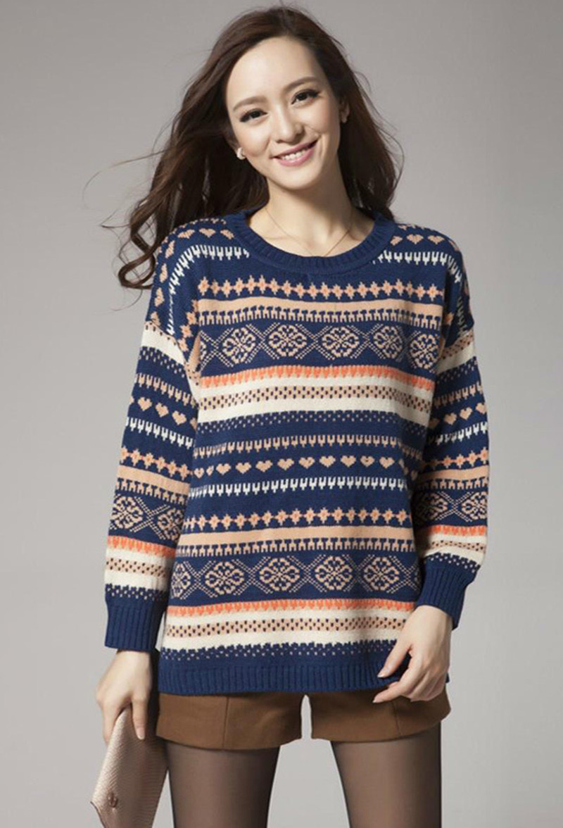 Knitting Patterns Plus Size : Snowflake sweater plus size long jacket
