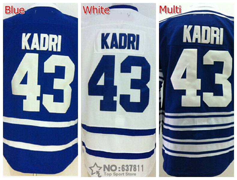 Cheap Toronto Hockey Jerseys #43 Nazem Kadri Jersey Home Blue White 2016 Winter Classic Nazem Kadri Alternate Stitched Jersey(China (Mainland))