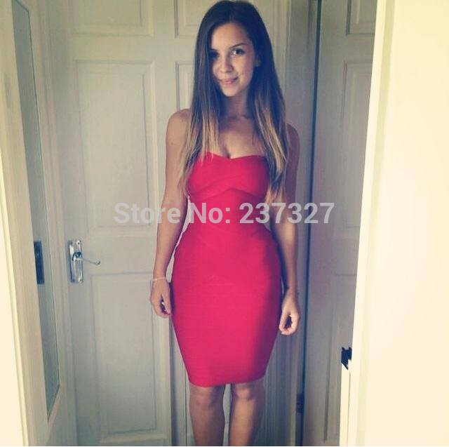 Free Shipping 2015 Short Strapless Elegant Evening Prom Red Bandage Dresses 4 Colors AvailableОдежда и ак�е��уары<br><br><br>Aliexpress