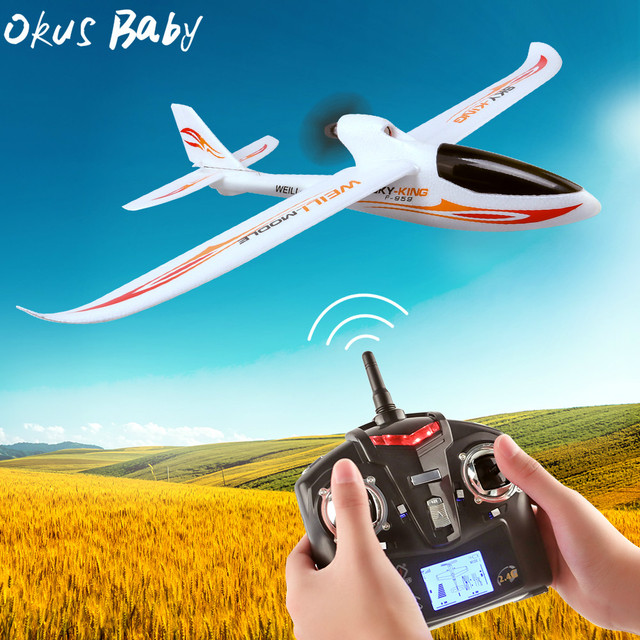 2019 Brand New 2.4G 3Ch RC Airplane Fixed Wing Plane Outdoor toys Drone For Gifts