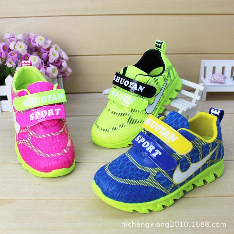 Kids Shoes Spring Autumn New High Quality KD Shoes Children's Shoes Boys Girls Breathable Mesh Sport Shoes 3 Colors Wholesale(China (Mainland))